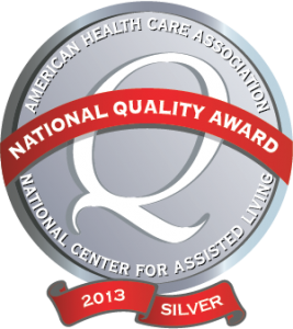 AHCA quality award program Silver 2013